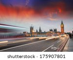 car light trails on westminster ... | Shutterstock . vector #175907801