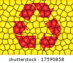 recycling sign on comb pattern | Shutterstock .eps vector #17590858
