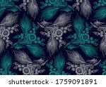 seamless floral pattern design... | Shutterstock .eps vector #1759091891