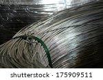aluminum wire in a coil | Shutterstock . vector #175909511