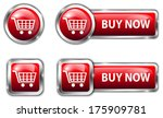 red glossy buttons for internet ...   Shutterstock .eps vector #175909781