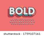 vector of stylized modern font... | Shutterstock .eps vector #1759107161