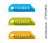 vector feedback icons set... | Shutterstock .eps vector #175910831