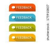 vector feedback icons set... | Shutterstock .eps vector #175910837