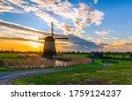 Windmill Farm In Holland...