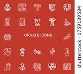 editable 22 ornate icons for... | Shutterstock .eps vector #1759139534