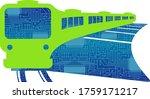 imaginary illustration of... | Shutterstock .eps vector #1759171217