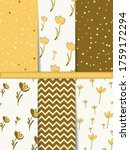 set of seamless patterns with ... | Shutterstock .eps vector #1759172294