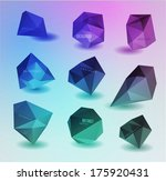 abstract polygonal background | Shutterstock .eps vector #175920431