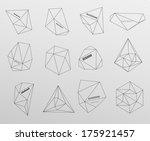 hipster cosmic background ... | Shutterstock .eps vector #175921457