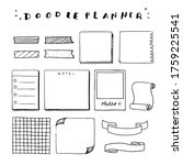 doodle stickers and tags for...