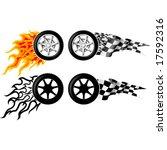 sports race emblems   third set   Shutterstock .eps vector #17592316