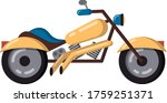 Powerful Classic Biker...