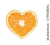 Heart Shaped Mandarine Isolated