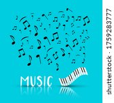 music design with abstract... | Shutterstock .eps vector #1759283777