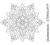 vector simple mandala with... | Shutterstock .eps vector #1759311977