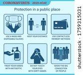 coronavirus preventive signs.... | Shutterstock .eps vector #1759315031