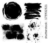 strokes of black paint   dirt . ... | Shutterstock .eps vector #175932521
