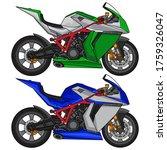 superbike sport motorcycle... | Shutterstock .eps vector #1759326047