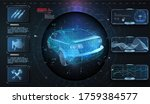 hologram car style in hud  ui ...   Shutterstock . vector #1759384577