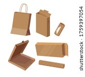 set with cardboard things.... | Shutterstock .eps vector #1759397054