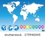colorful map pointers for... | Shutterstock .eps vector #175940345