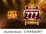 jackpot king spins 777 banner... | Shutterstock .eps vector #1759406597