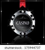 metallic casino chip | Shutterstock .eps vector #175944737