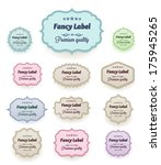 labels. vector | Shutterstock .eps vector #175945265