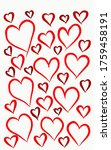 different sizes of red hearts...   Shutterstock . vector #1759458191