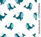 whale seamless pattern. vector. ...   Shutterstock .eps vector #1759459844