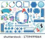 summer japanese style... | Shutterstock .eps vector #1759499864
