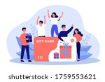 customers getting gift card.... | Shutterstock .eps vector #1759553621