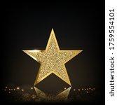 the golden glittering sheen of...   Shutterstock .eps vector #1759554101