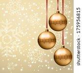 christmas decoration of golden... | Shutterstock .eps vector #175956815