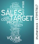word cloud with sales target... | Shutterstock . vector #175957817