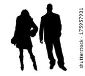 vector silhouettes man and... | Shutterstock .eps vector #175957931