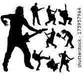 vector silhouettes man musician ... | Shutterstock .eps vector #175957964