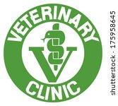 veterinary clinic symbol  ... | Shutterstock .eps vector #175958645