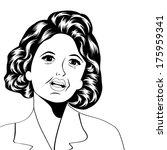 pop art illustration of a sad...   Shutterstock .eps vector #175959341