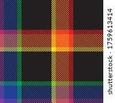 rainbow plaid  checkered ... | Shutterstock .eps vector #1759613414