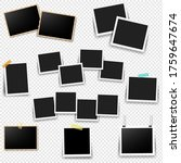 photo frame set with... | Shutterstock .eps vector #1759647674
