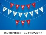 decorative pennant garland ... | Shutterstock .eps vector #1759692947