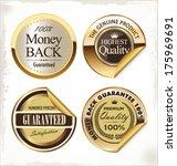 premium quality golden label | Shutterstock .eps vector #175969691