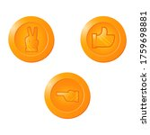 golden coin icon symbol with...