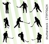ice hockey player silhouette... | Shutterstock .eps vector #175970624