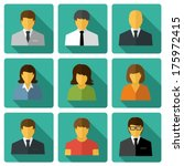 business people flat icons | Shutterstock .eps vector #175972415
