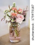 Mason Jar Of Roses  Table...