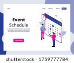 isometric landing page of event ...   Shutterstock .eps vector #1759777784