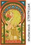 Summer Woman In Art Nouveau...